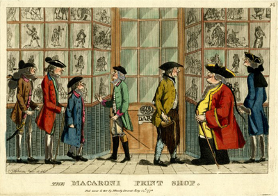 The Macaroni Print Shop. Trustees of the British Museum