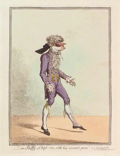 James Gillray. So Skiffy Skipt On, with his Wonted Grace Courtesy of the National Portrait Gallery